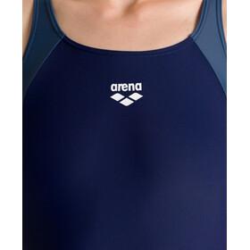 arena Ren Maillot de bain une pièce Femme, navy/shark/fluo red
